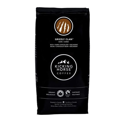 Kicking Horse Coffee, Grizzly Claw, Dark Roast, Whole Bean