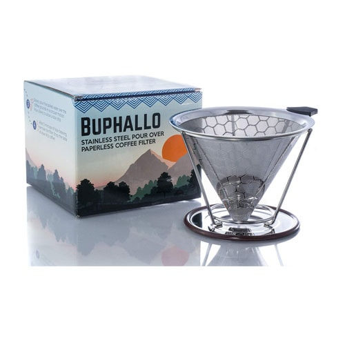 Buphallo Stainless Steel Pour Over Cone Coffee Dripper